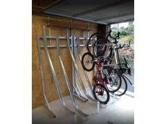 Semi Vertical Bike Rack | Frame + Bike Racks