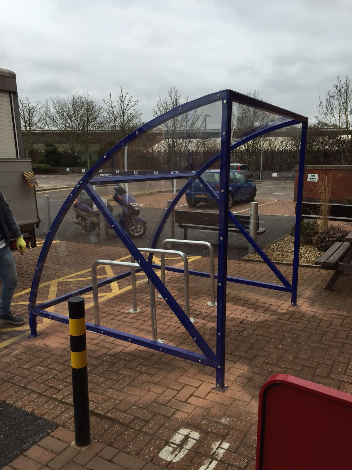 Small Bike Shelters : Mini bds cycle shelter