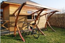 Dundee Wooden Shelter - 10 Space Cycle Shelter