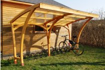 Oxford Wooden Shelter - 10 Space Cycle Shelter