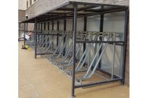 The Semi Vertical Rack Shelter - 12 Bikes