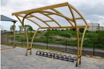 Exeter Wooden Shelter - 10 Space Cycle Shelter